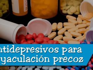 antidepresivos para la eyaculación precoz